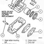 Exploded view of the front brake caliper - non cobra model