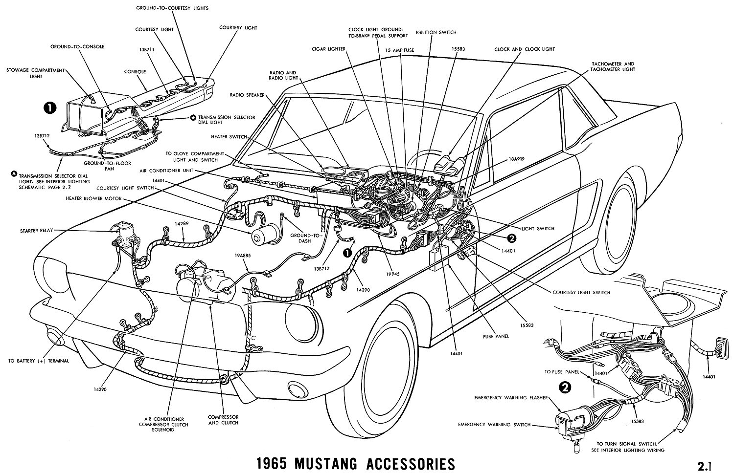 65 mustang accesories 1965 mustang accesories diagram 1965 mustang instrument cluster wiring diagram at n-0.co