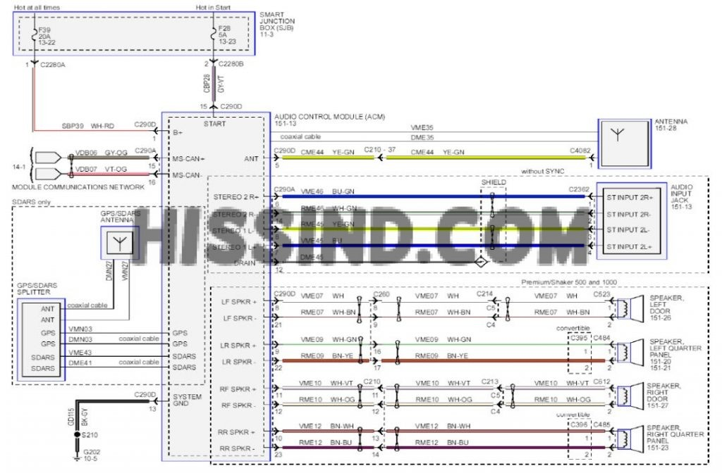 2013 ford mustang stereo wiring diagram 1024x672 2005 2014 ford mustang archives 2005 mustang stereo wiring diagram at soozxer.org