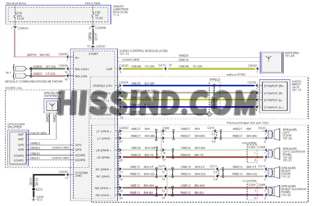 2013 mustang stereo wiring diagram 2003 mustang radio wiring harness at Mustang Audio Wiring Harness