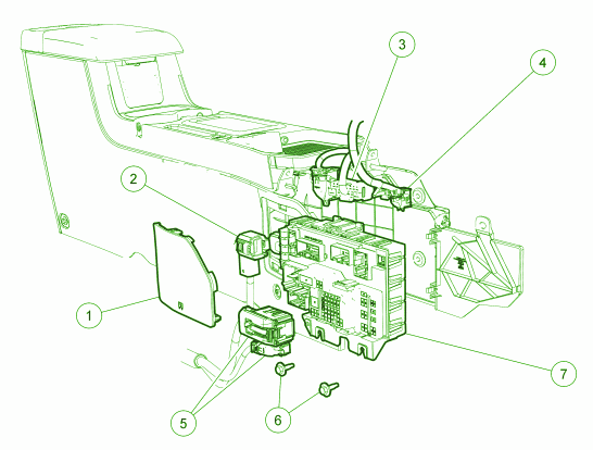 Mercury mariner under the dash fuse box diagram