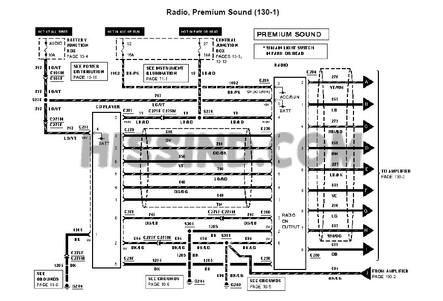20012004 Mustang Factory Radio    Diagram    to Upgrade    Stereo