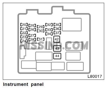 1999 toyota camry fuse diagram interior